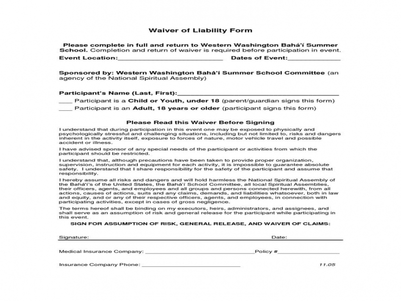 Release Of Liability Form Car Accident Price Specs And Release Date